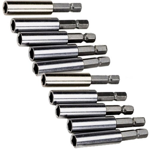 10pc 2-1/4 Inch Magnetic Bit Extension Holder