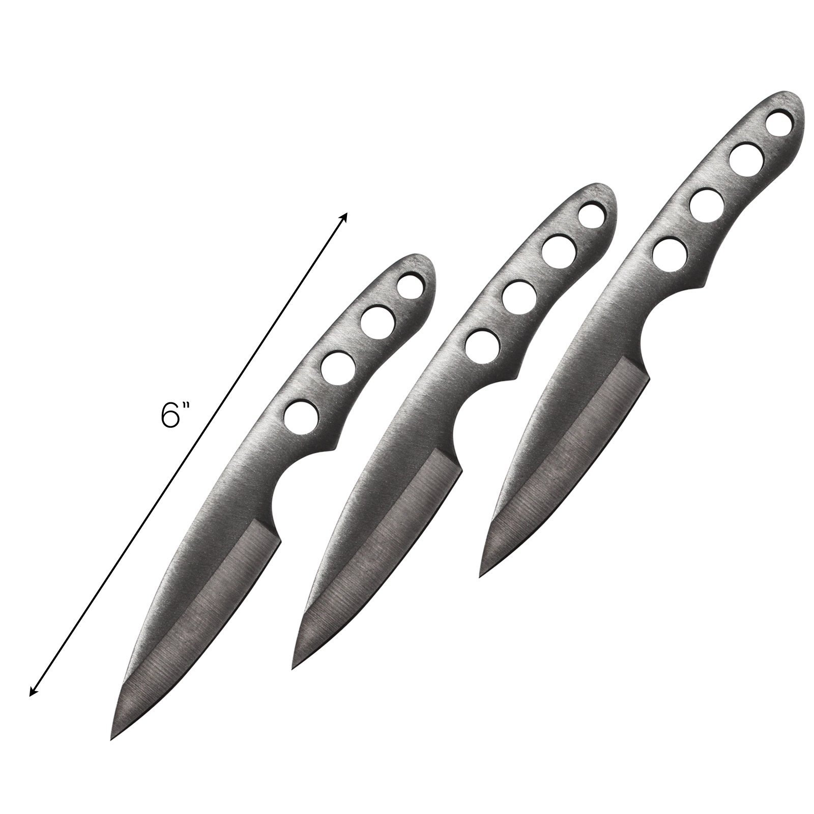 3 Piece Throwing Knife Set 440 Stainless Steel with Compact Carrying Case