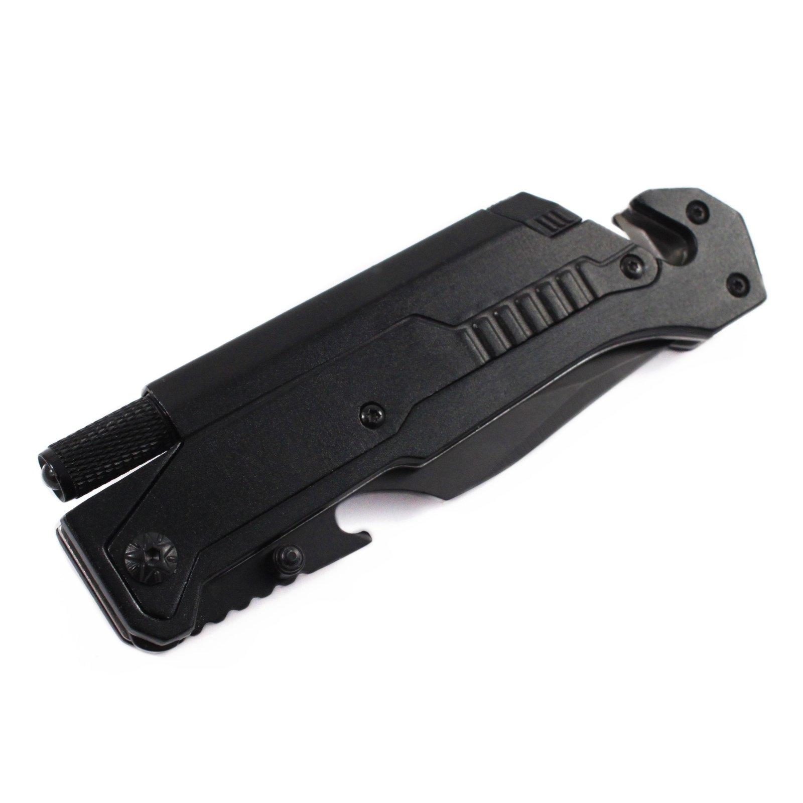 """8.5"""" Emergency Survival Folding Rescue Pocket Knife Window Punch Belt Cutter"""