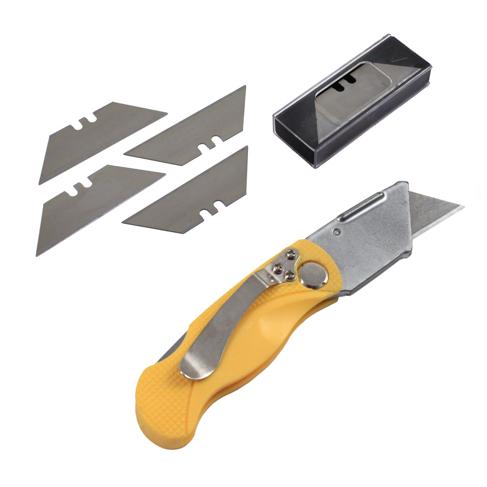 Folding Box Cutter Multi Blade Set Utility Pocket Knife Retractable Heavy Duty Tool