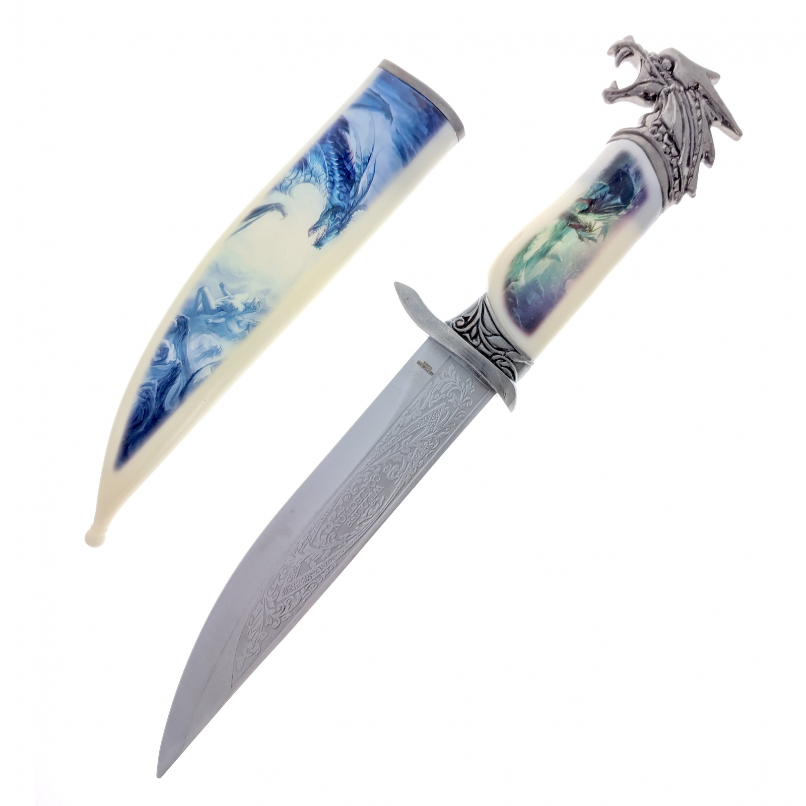"""13.5"""" Collector Knife with Dragon Scabbard and Handle"""