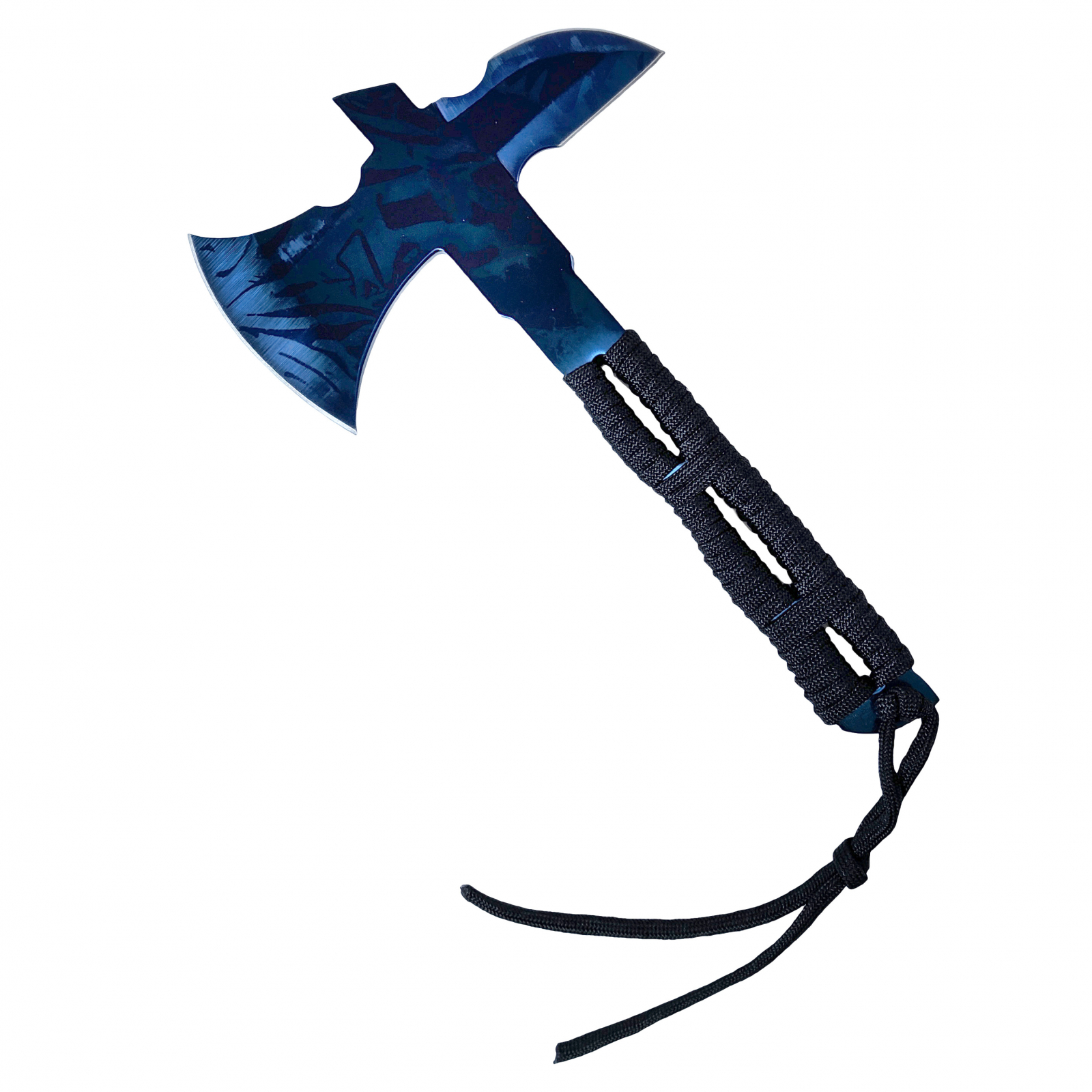 ASR Outdoor 8 In Throwing Axe Blue Finish Fixed Blade