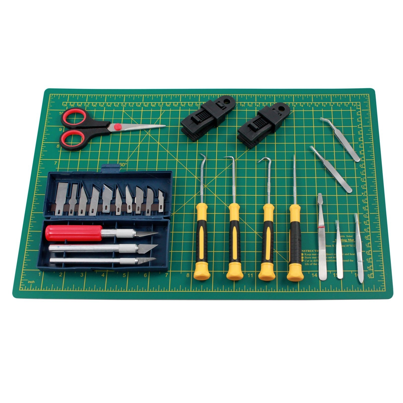 Deluxe Vinyl Cutting Hobby Craft Kit with Mat Clamps Blades and Hooks