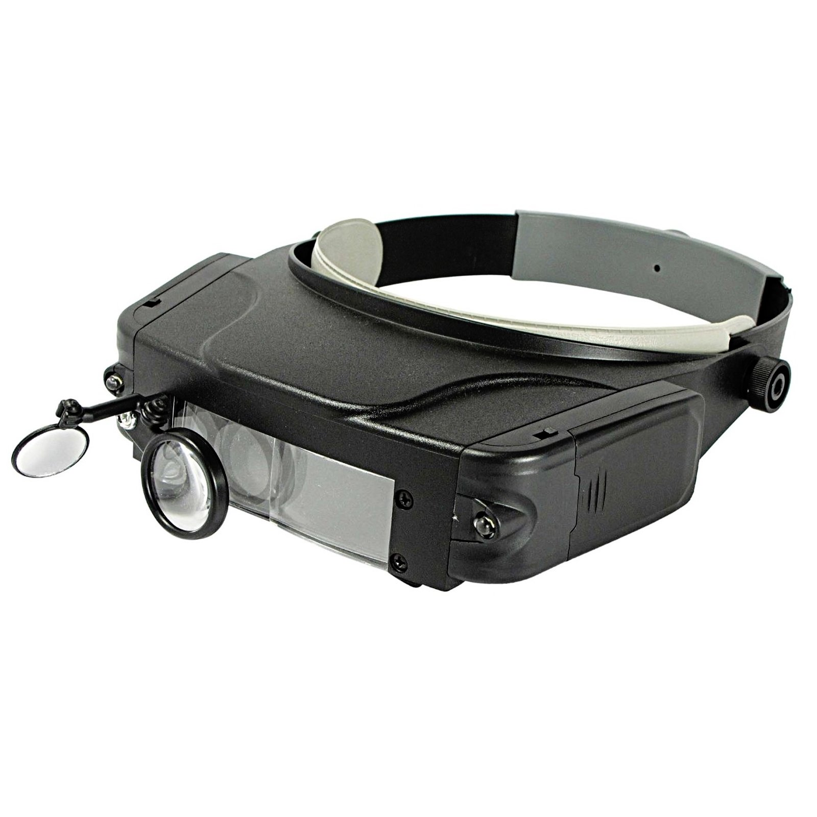 Handsfree Multi Power Lighted Head Visor Magnifier with Adjustable Strap for Precision Projects and Crafting