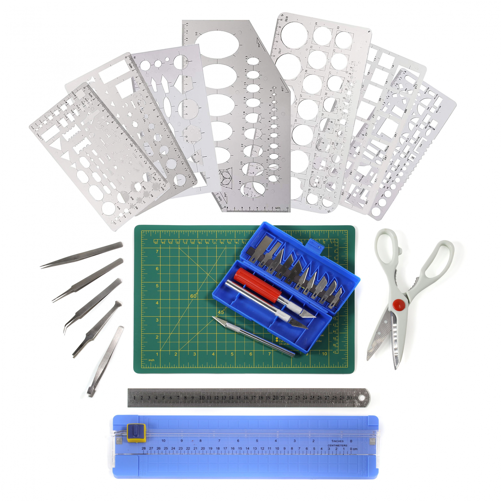 ToolTreaux Stationery Scrapbooking Set Crafts Kit 26pc
