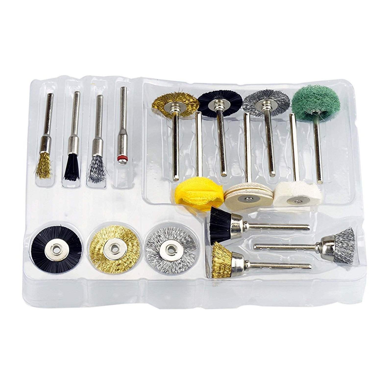 17 piece Rotary Tool Cleaning Brush Kit Assorted Sizes and Styles