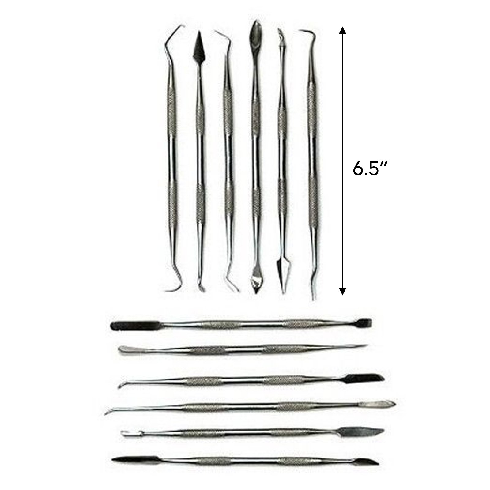 Dual Sided 12pc Wax Clay Carving Pick Spatula Tool Set with Case Arts and Crafts