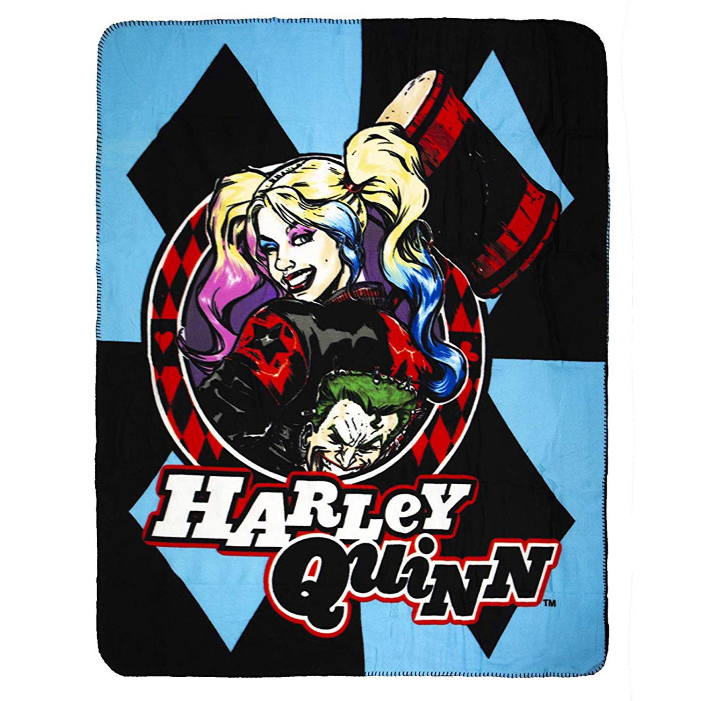 DC Comics Harley Quinn Super Soft Fleece Throw Blanket