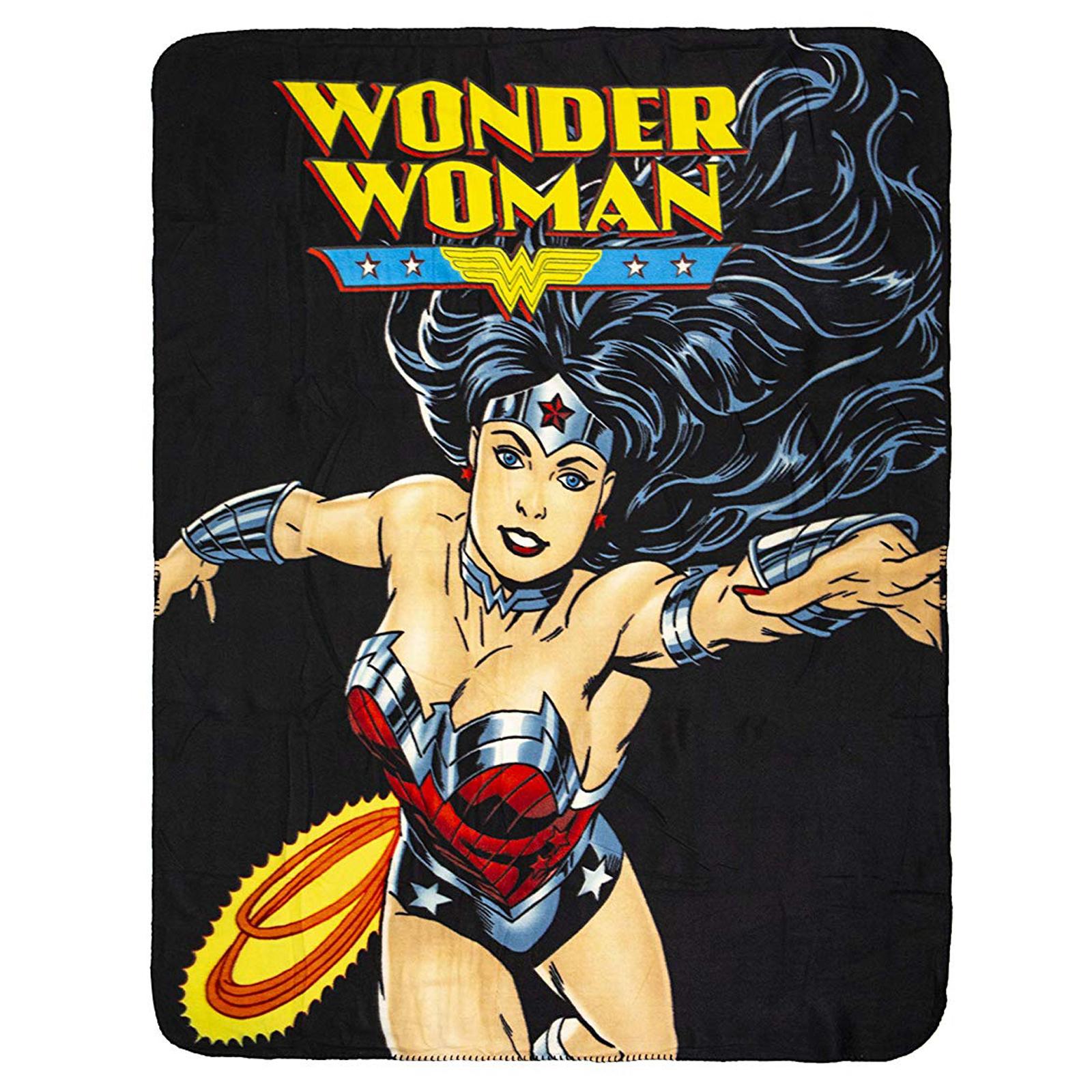 DC Comics Wonder Woman Super Soft Fleece Throw Blanket