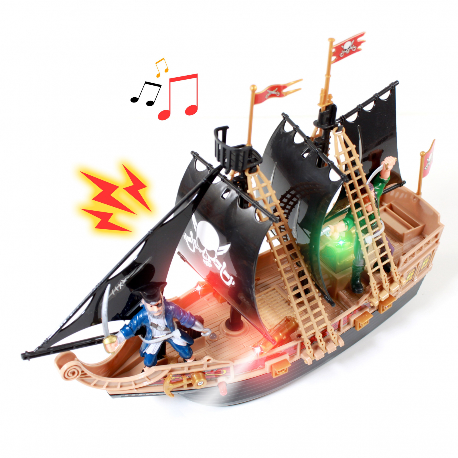 KidPlay Products Kids Pirate Ship Adventure Toy - Black