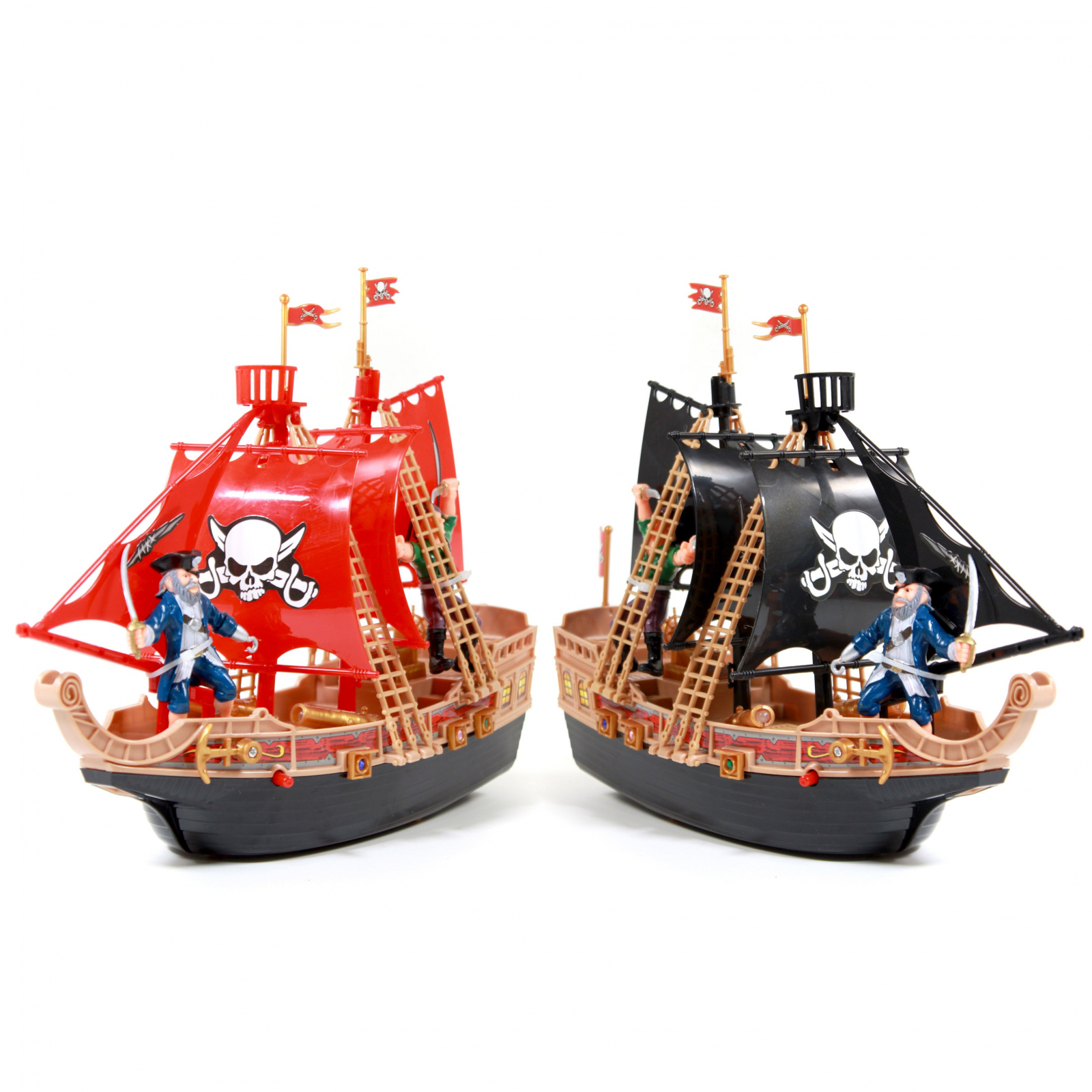 KidPlay Products Scurvy Boys Pirate Ship Adventure LIGHT UP, SOUND Toy (2-Pack)
