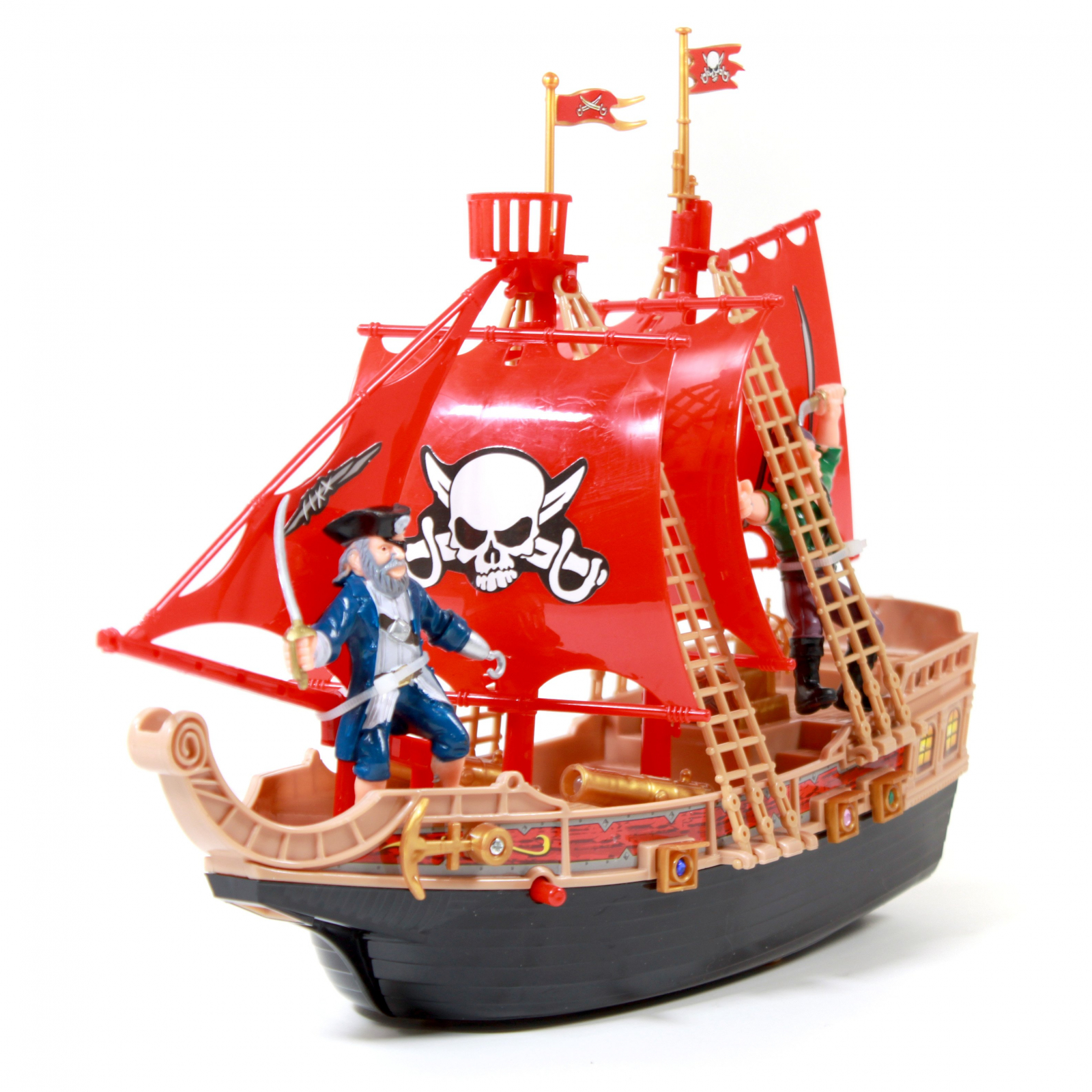 KidPlay Products Kids Pirate Ship Adventure Toy - Red