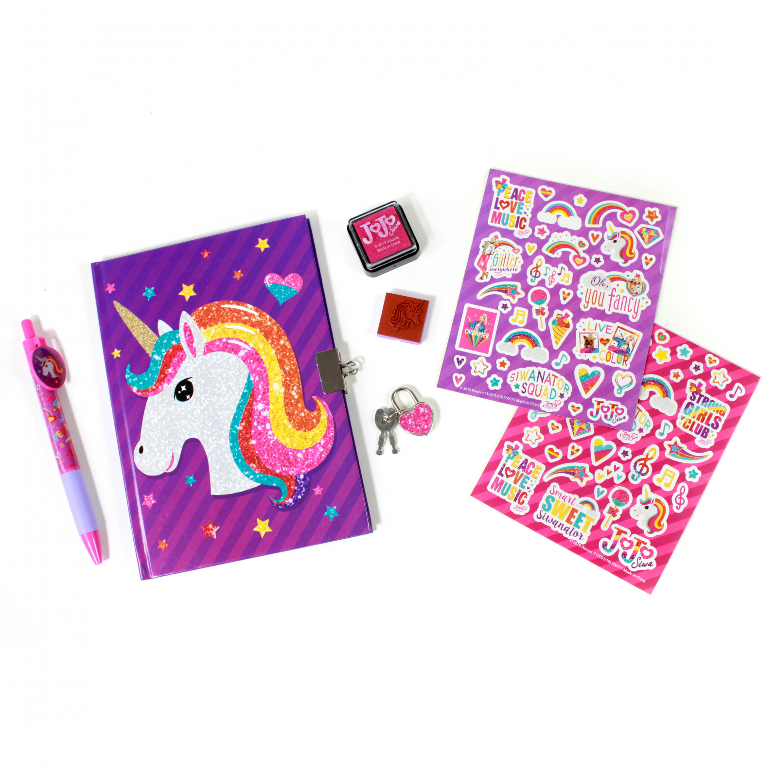 JoJo Siwa Secret Locking Diary Set With Stamps And Stickers