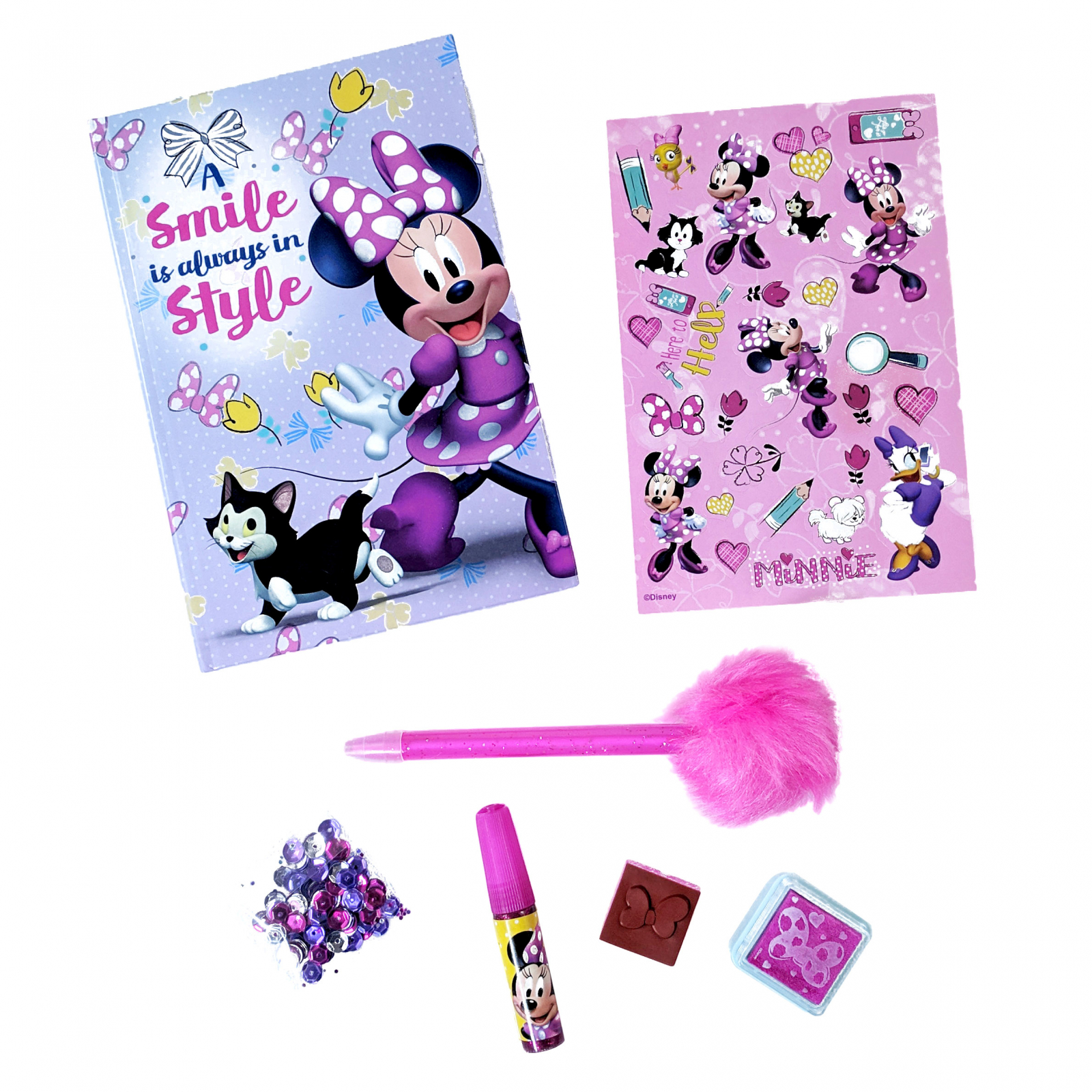 Disney Minnie Mouse Sequin Diary Craft Set
