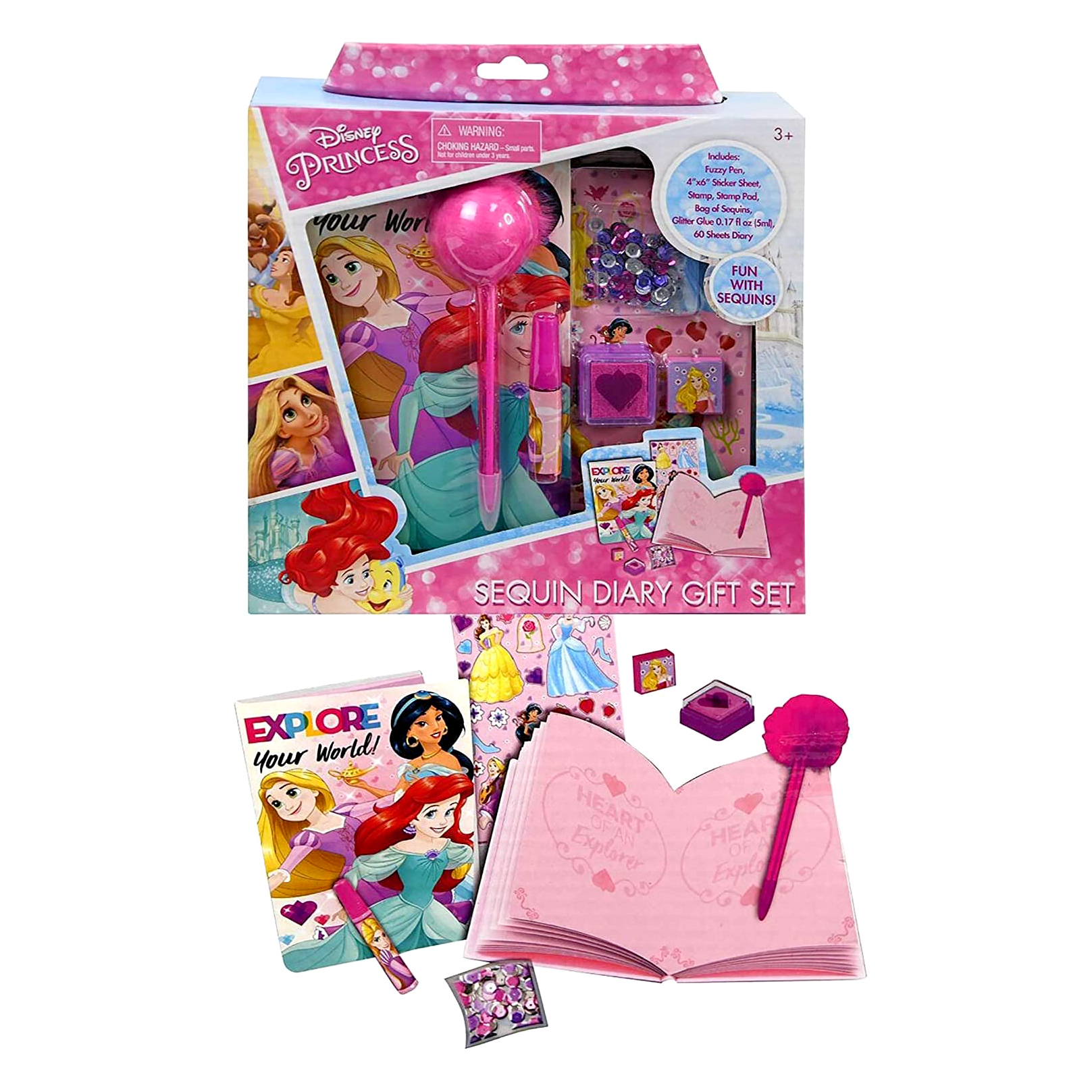 Disney Princess Sequin Diary Gift Set