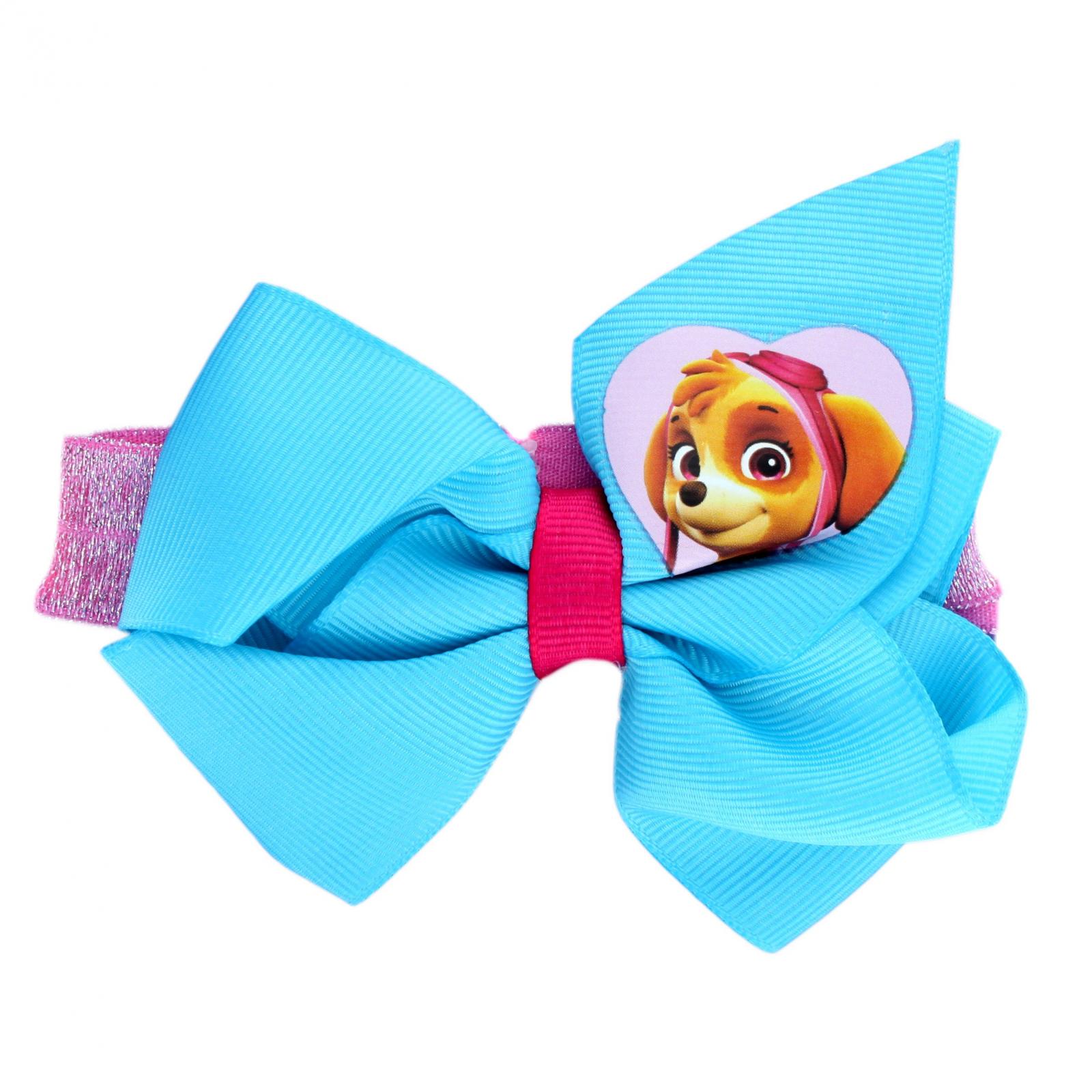 Paw Patrol Skye Blue Glitter Headwrap Hair Bow for Girls