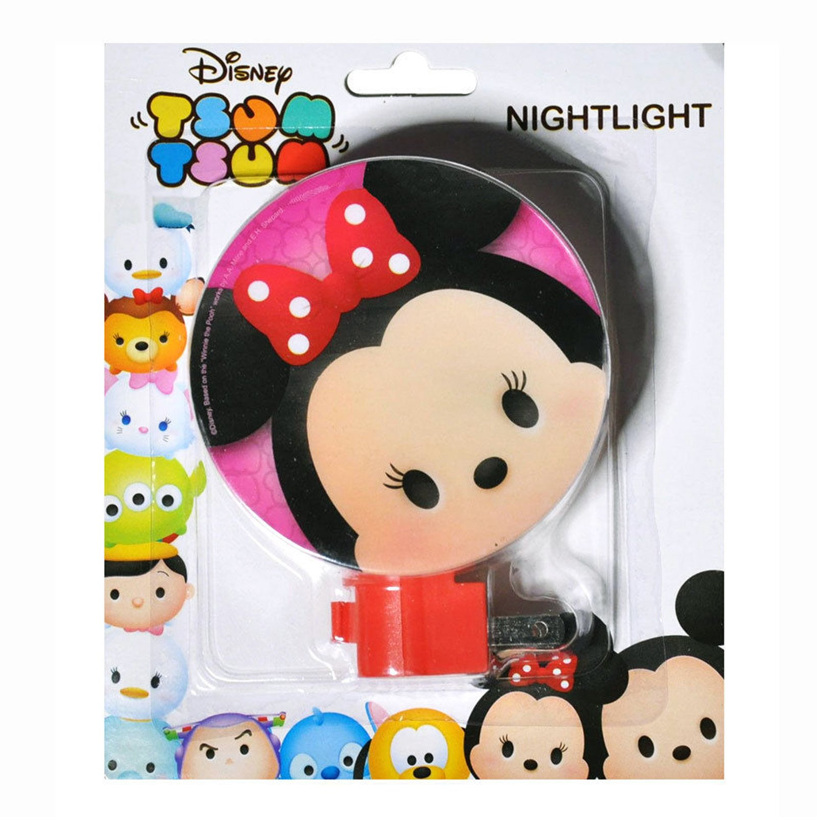 Disney Tsum Tsum Night Light Kids Bedroom Home Decor Minnie Mouse - Red