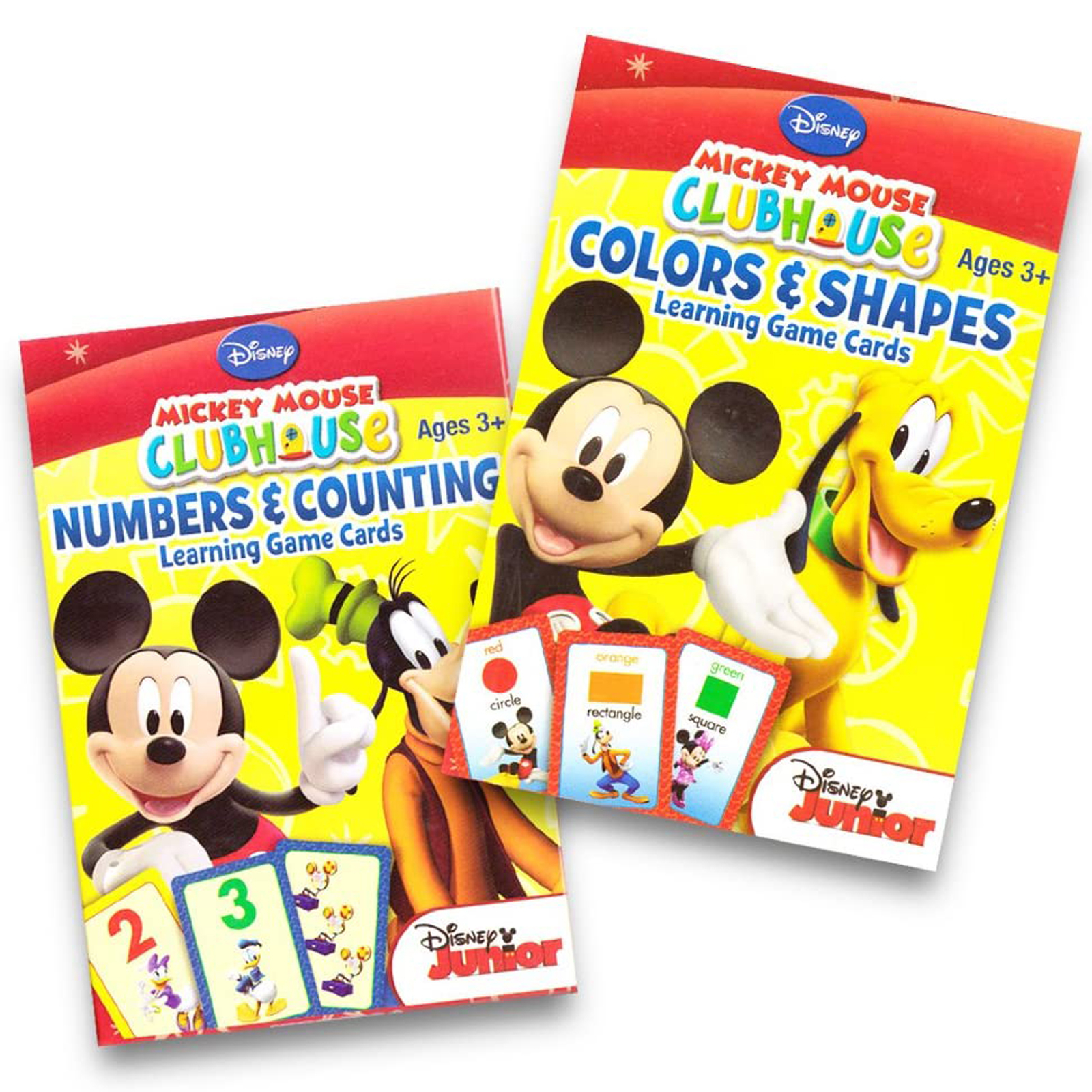 Mickey Mouse Child Development Learning Card Game Set 2pk