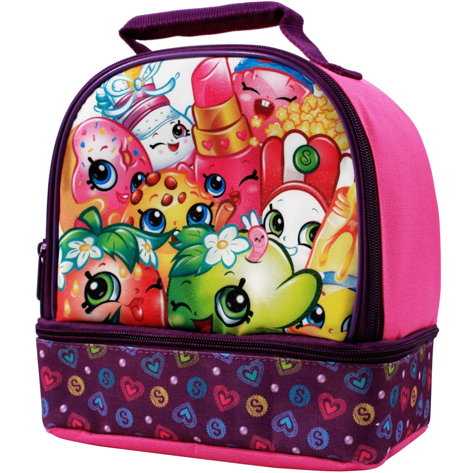 Shopkins Girls Dual Compartment Lunch Bag Insulated