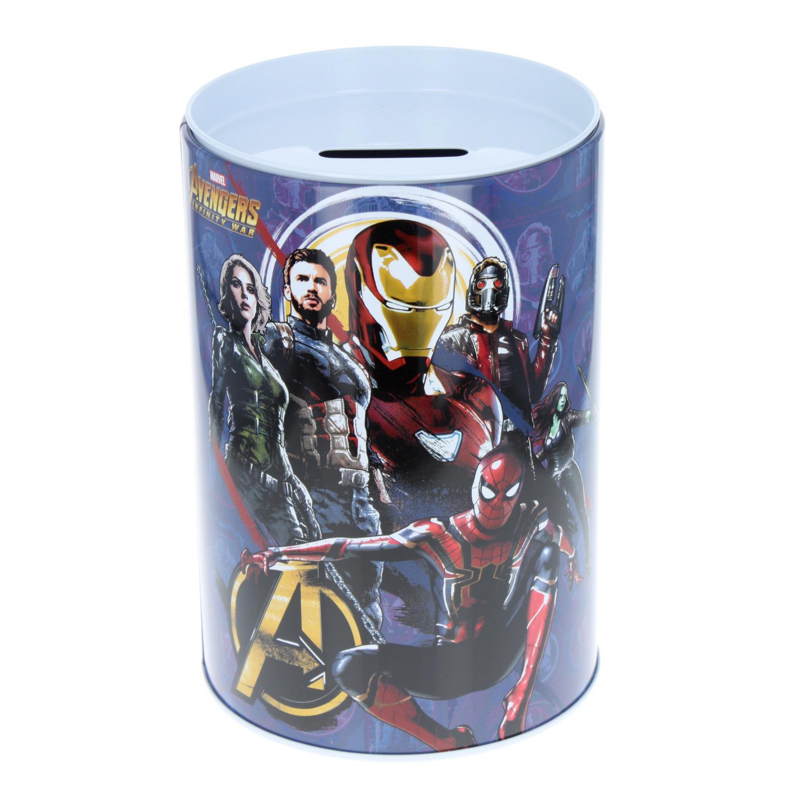Marvel Avengers Kids Tin Piggy Bank Learning Savings