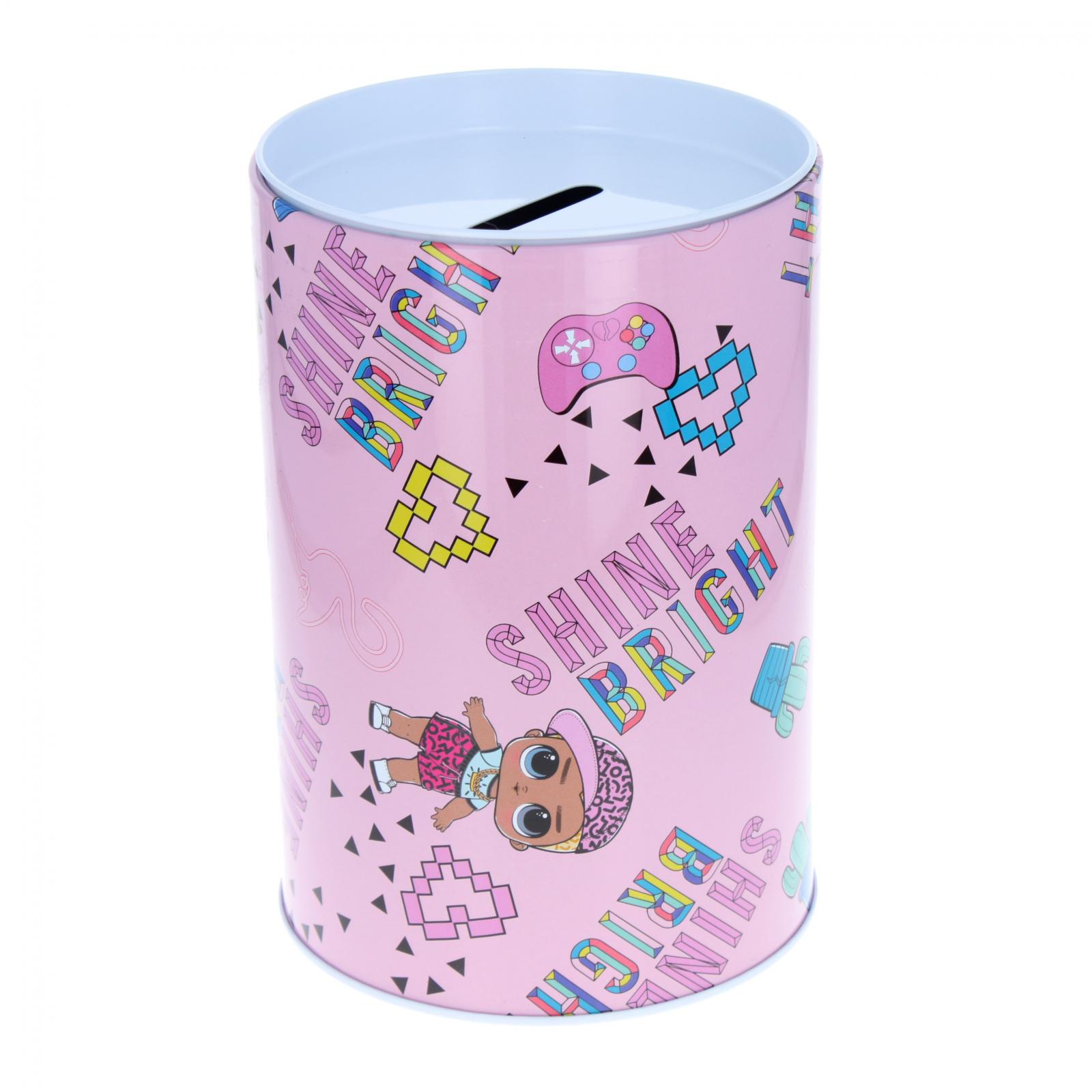 LOL Surprise Kids Tin Piggy Bank Learning Savings