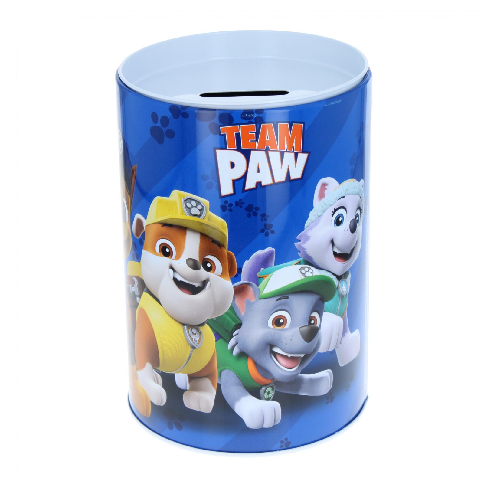 Paw Patrol Kids Tin Piggy Bank Learning Savings