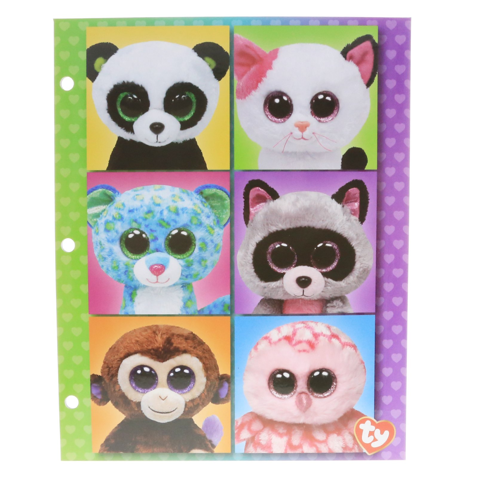 Ty Beanie Boos School Supply 2-Pocket Classroom Folder