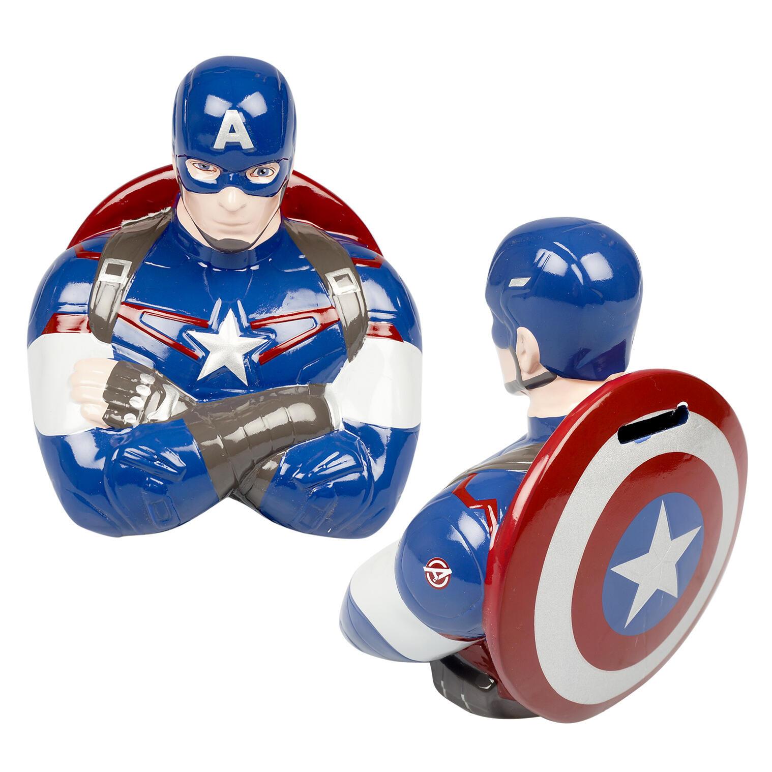 Marvel Avengers Captain America Kids Ceramic Piggy Bank