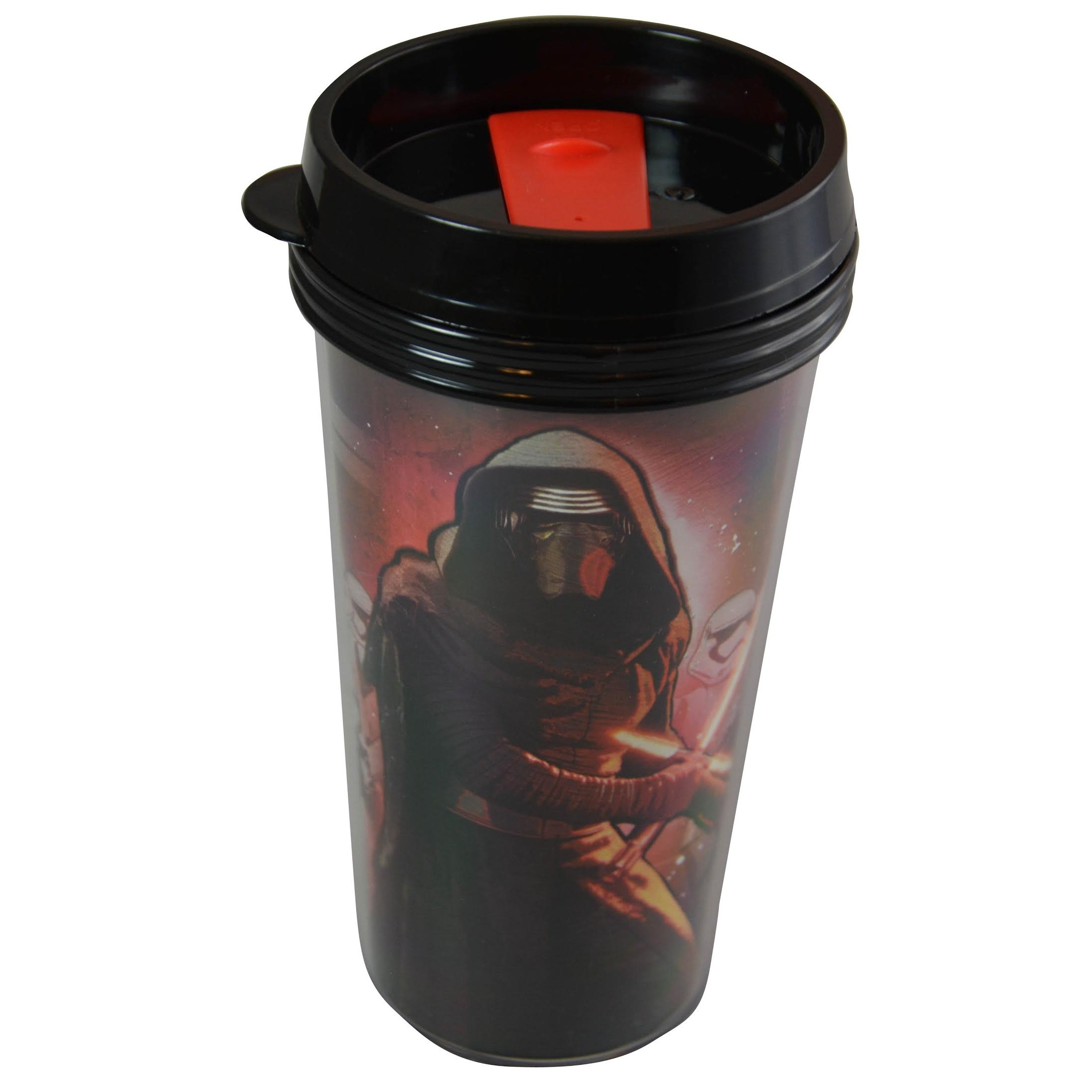 Star Wars 16 Ounce Fun On the Go Travel Water Bottle Tumbler with Straw