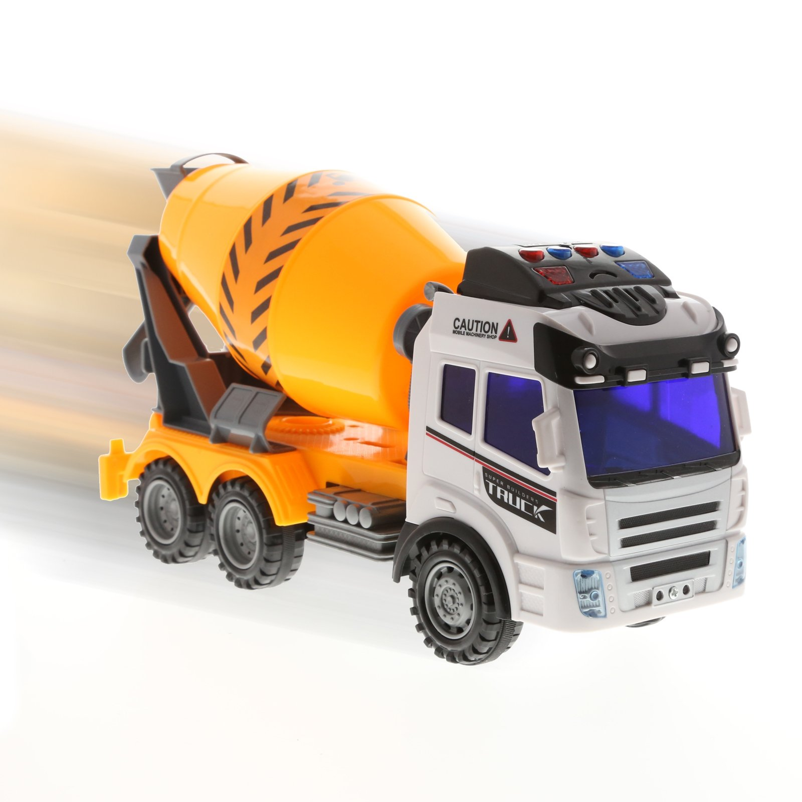 Kidplay Friction Powered Cement Truck Construction Lights and Sounds Kids Toy