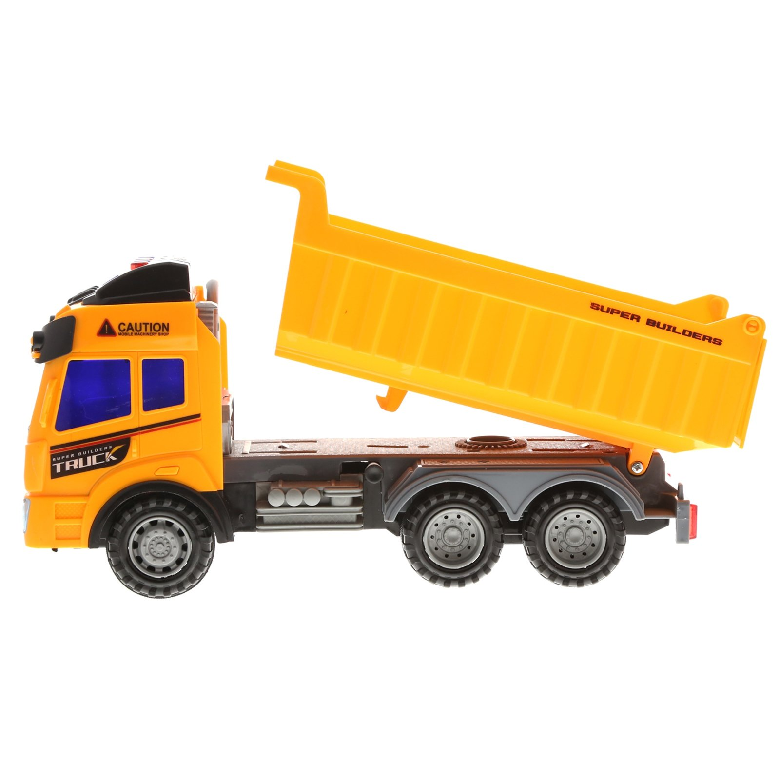 Kidplay Friction Powered Dump Truck Construction Lights and Sounds Kids Toy