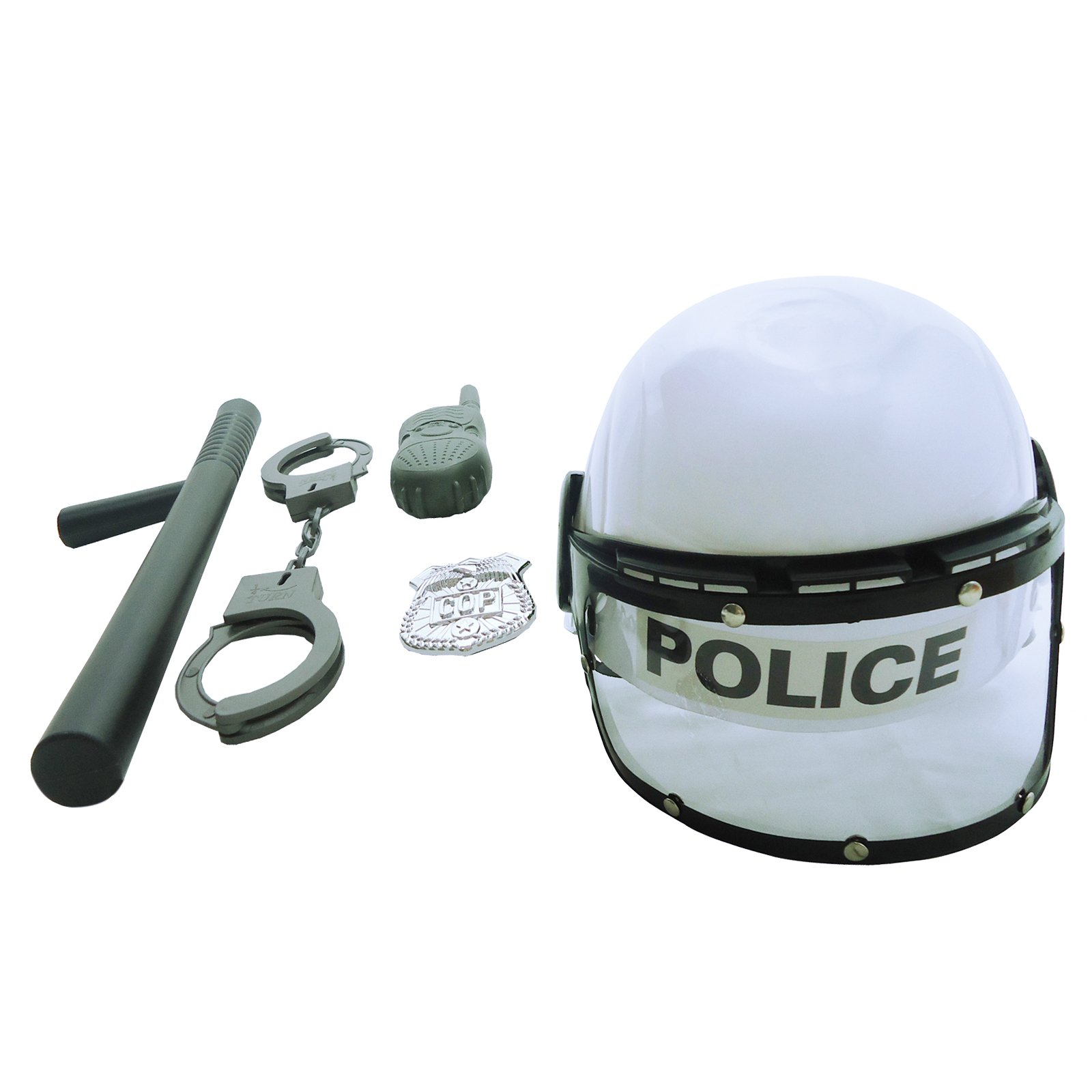 Combat Police Helmet Dress Up Play Set with Accessories