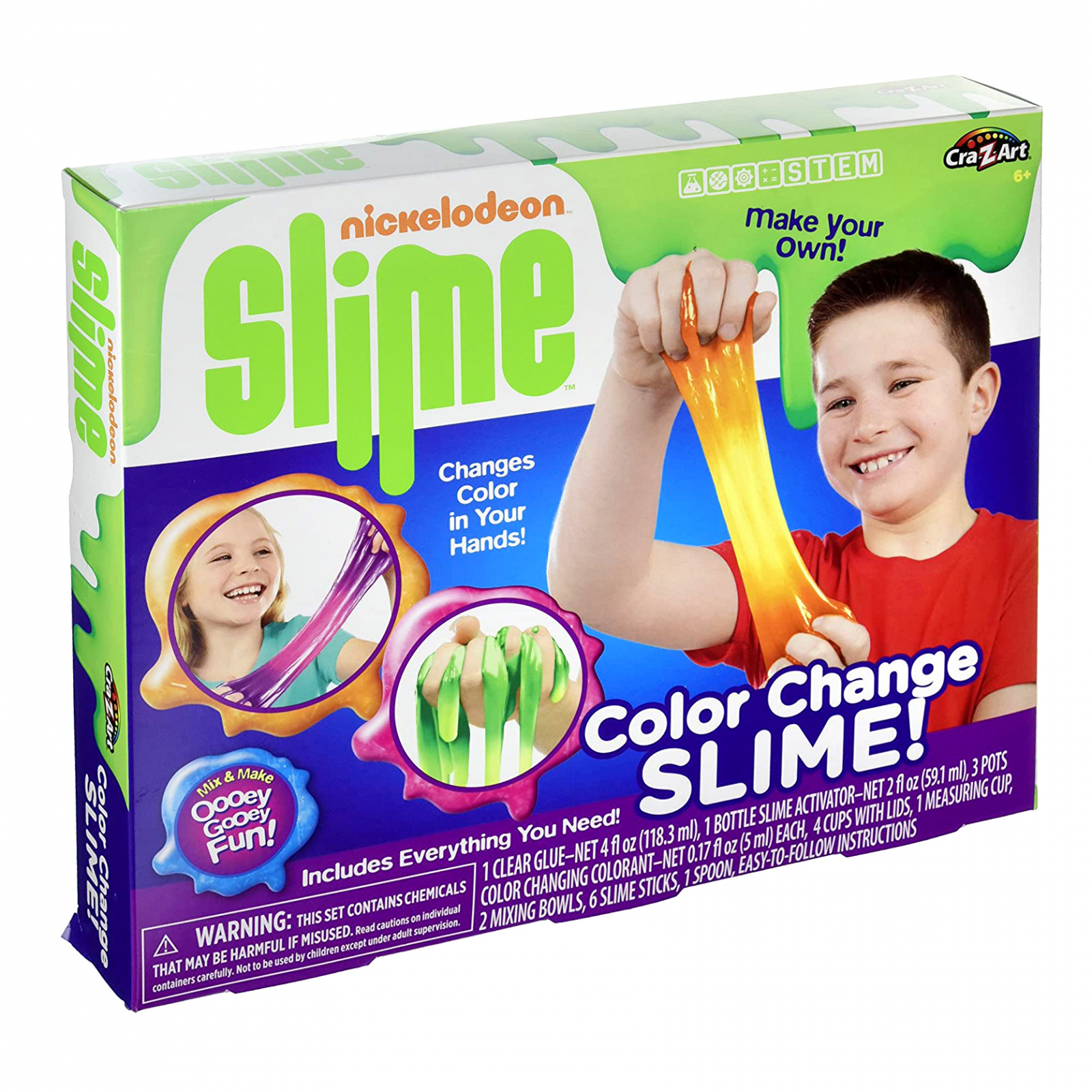 Nickelodeon Color Changing DIY Slime Science Kit for Kids