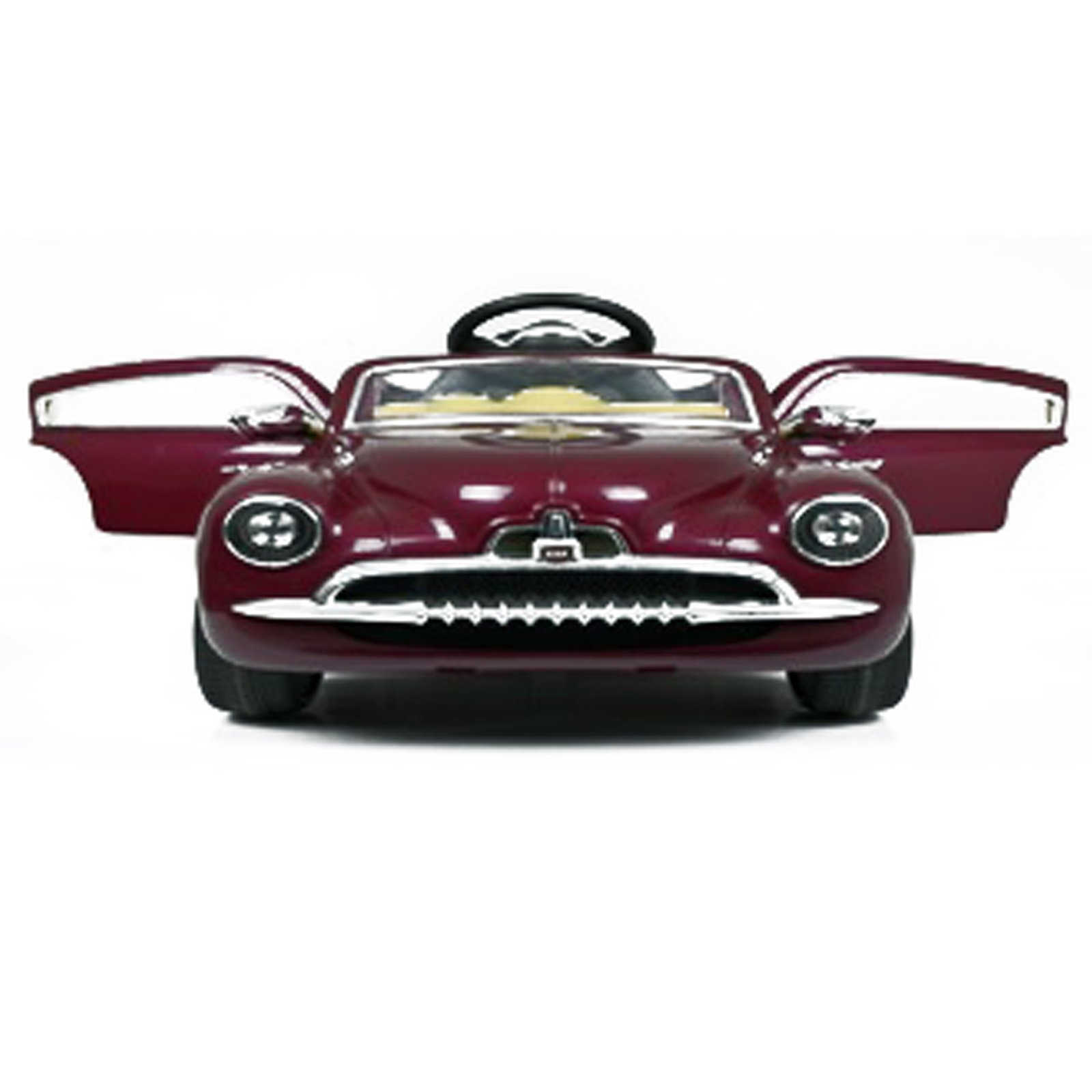 1949 Classic Kids Ride On Car Battery Powered 12V Remote Control  - Burgundy