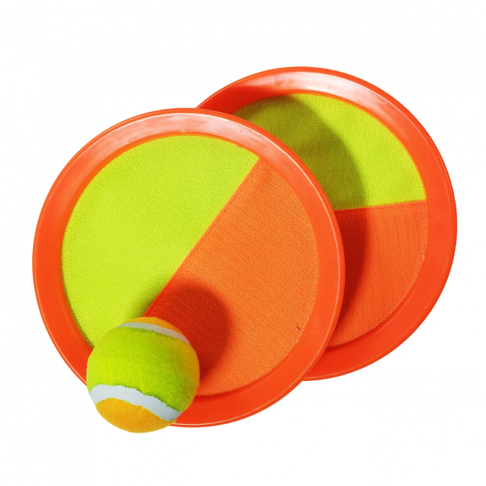 TychoTyke Toss and Catch Self Stick Paddle Game Set Orange