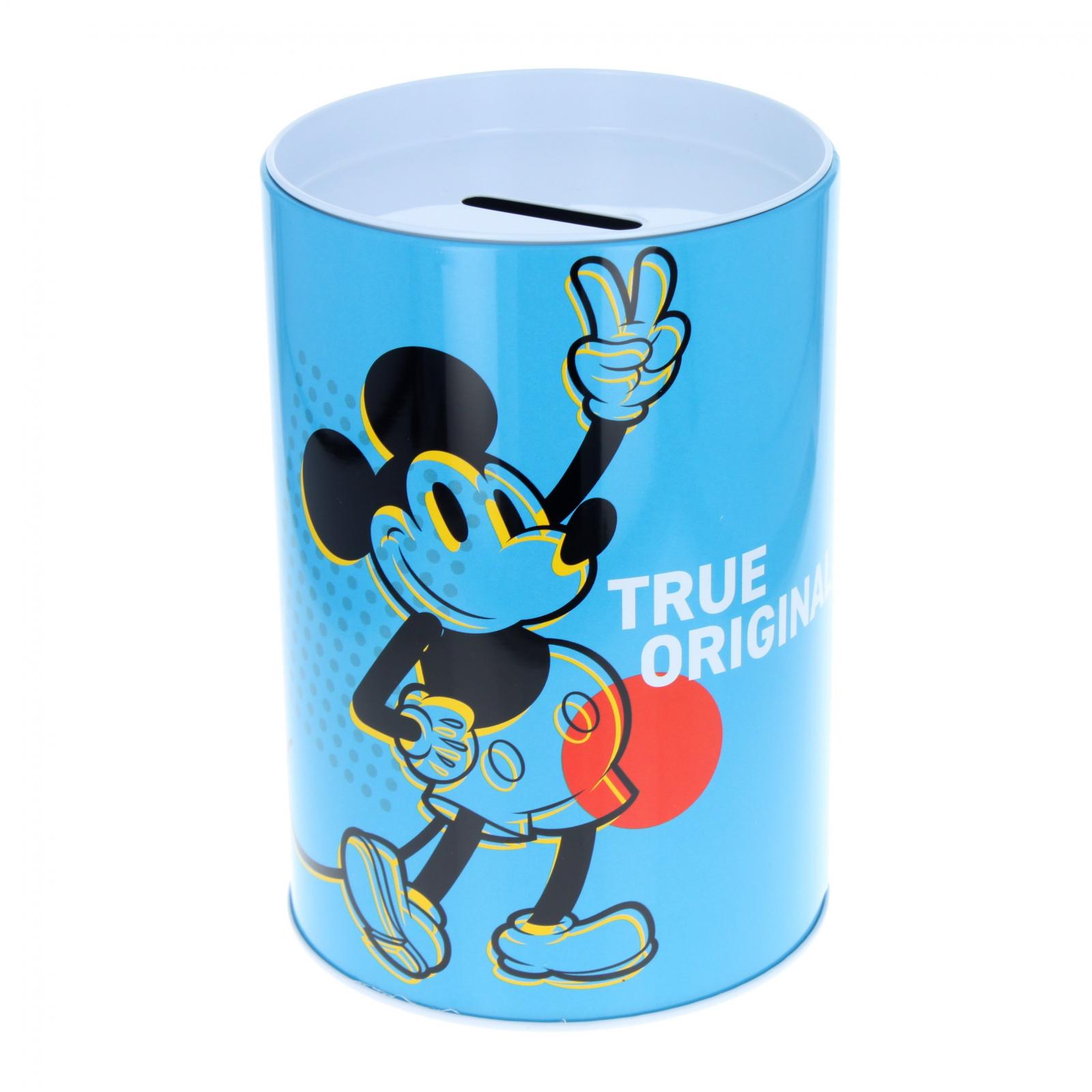 Disney Mickey Mouse Kids Tin Piggy Bank Learning Savings