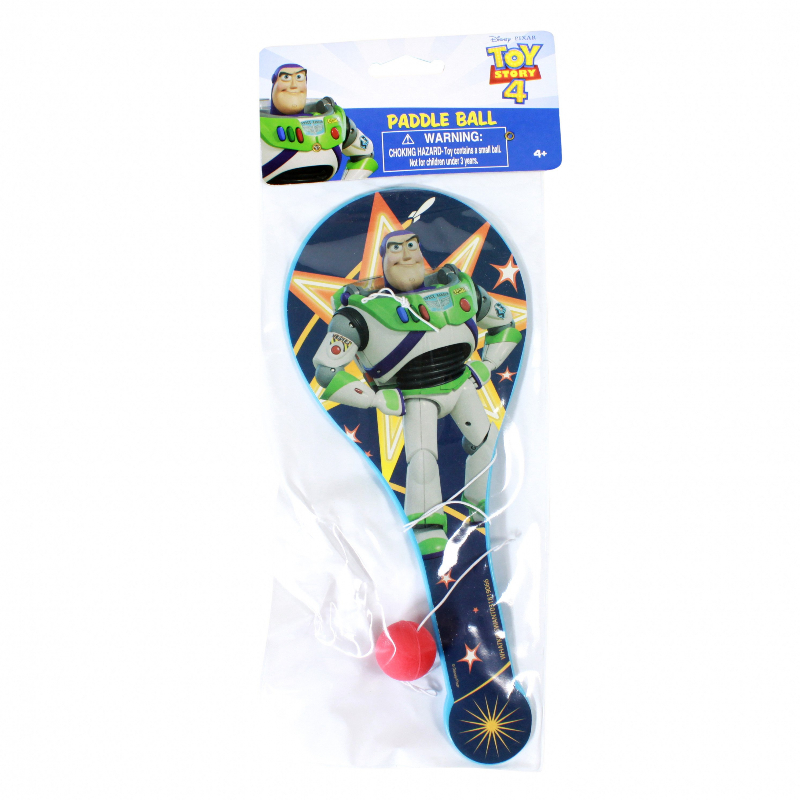Disney Pixar Toy Story 4 Buzz Lightyear Paddle Ball