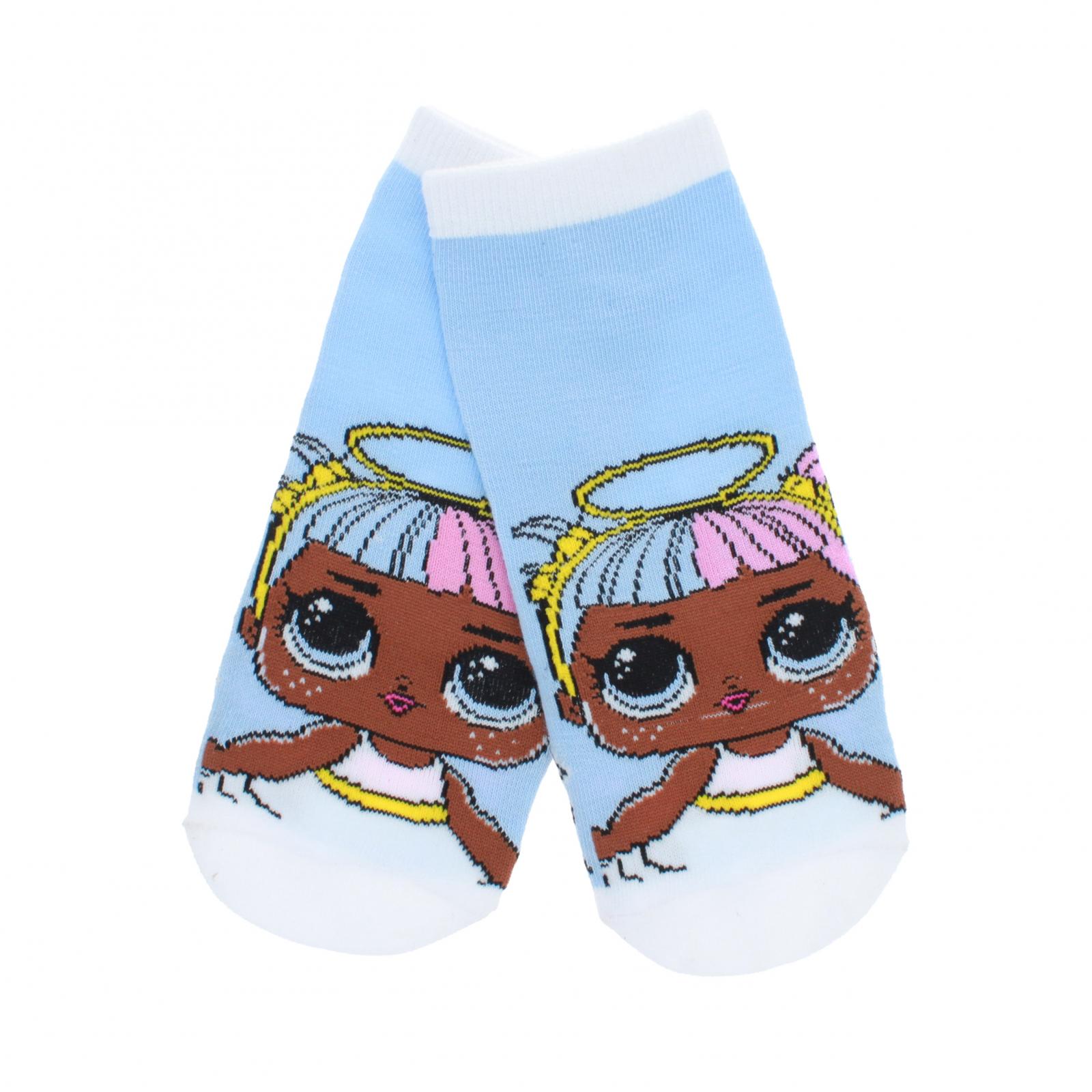 LOL Surprise Girls Ankle Socks Size 6-8.5 - Blue