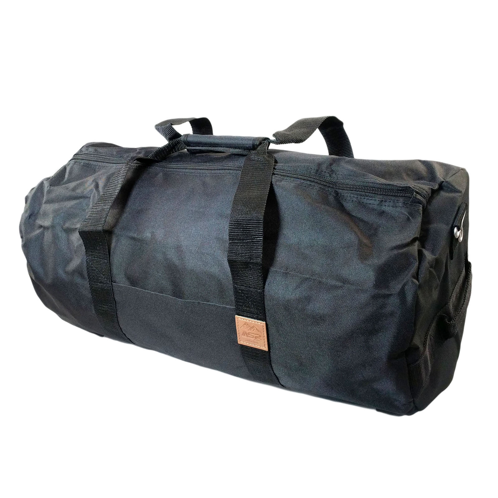 ASR Outdoor Classic Round Duffel Bag 23 Inch Matte Black