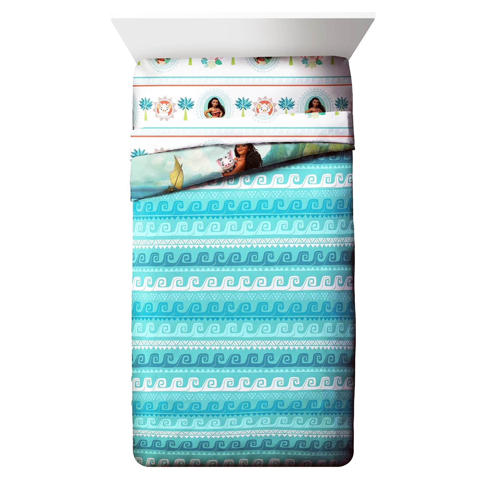 Disney Moana Girls Twin Sized Comforter Reversible Blanket
