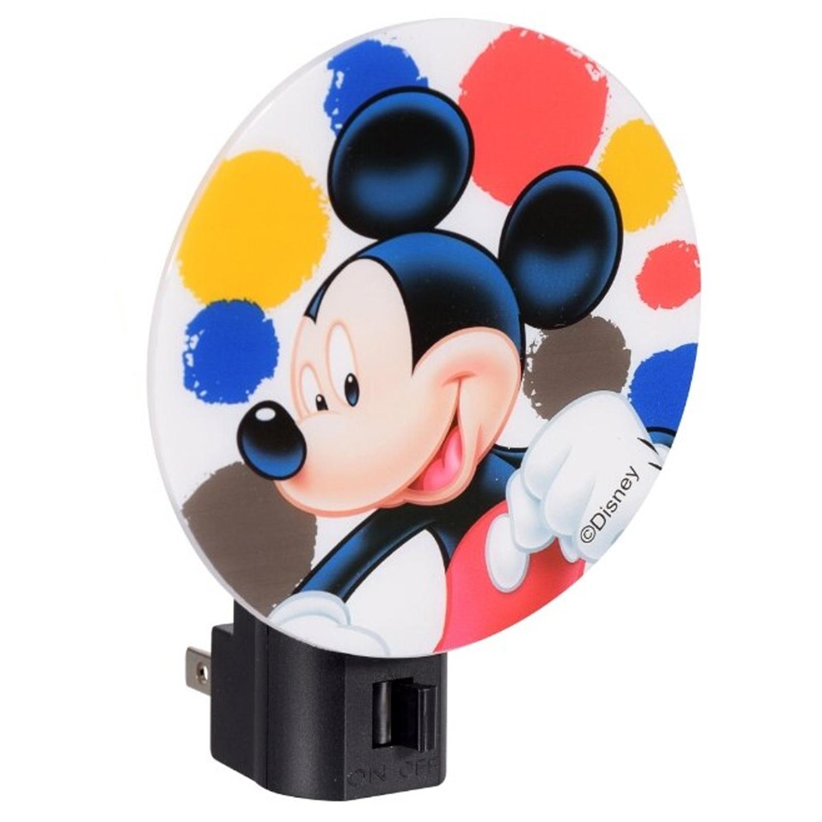 Mickey Mouse Kids Adjustable Rotary Plug-in Night Light