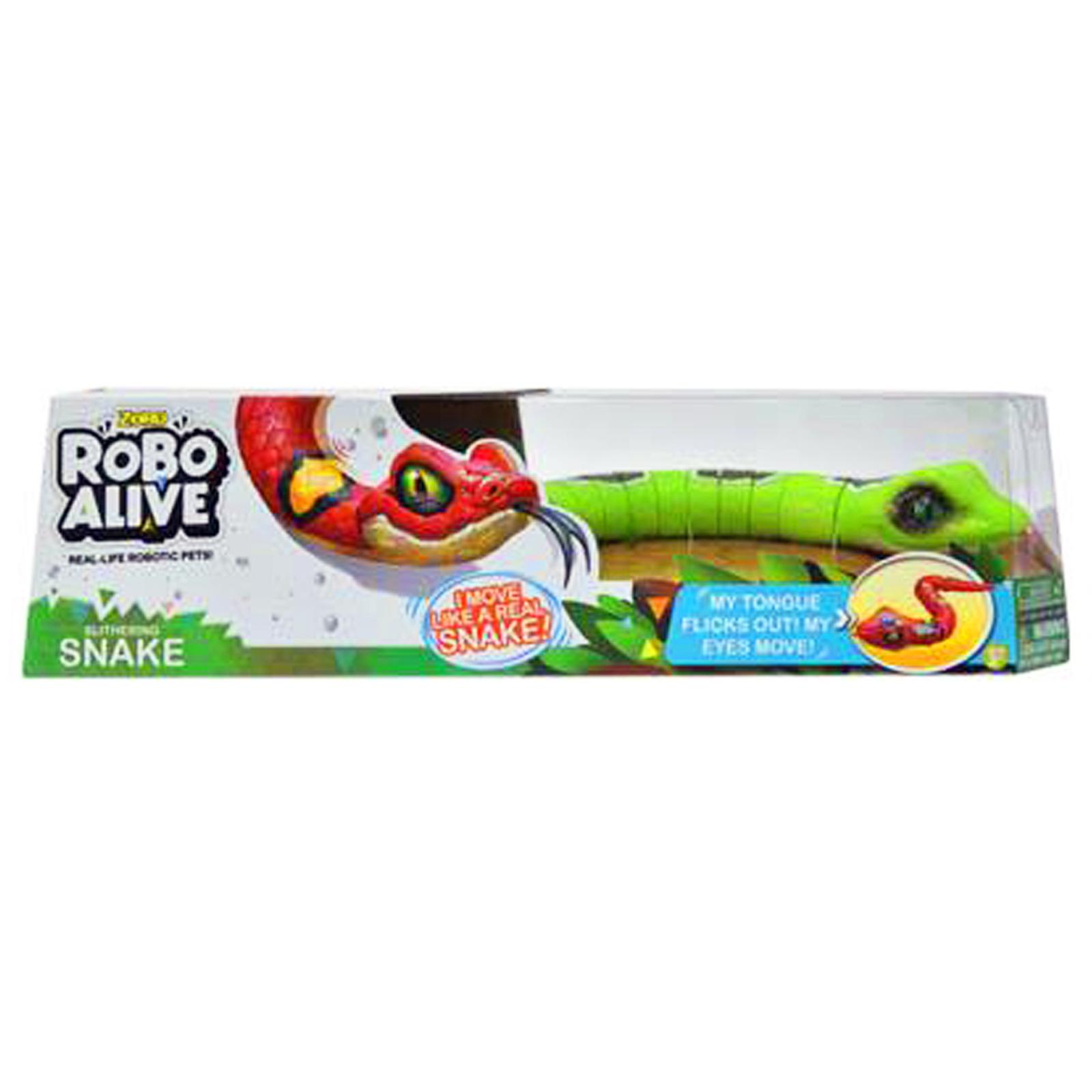 Zuru Green Robo Alive Robotic Snake Toy Pet