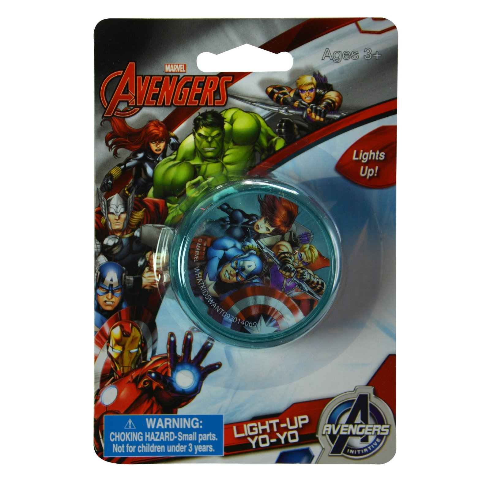 Kids Marvel Avengers Light Up LED Yo Yo Toy With Captain America and Thor