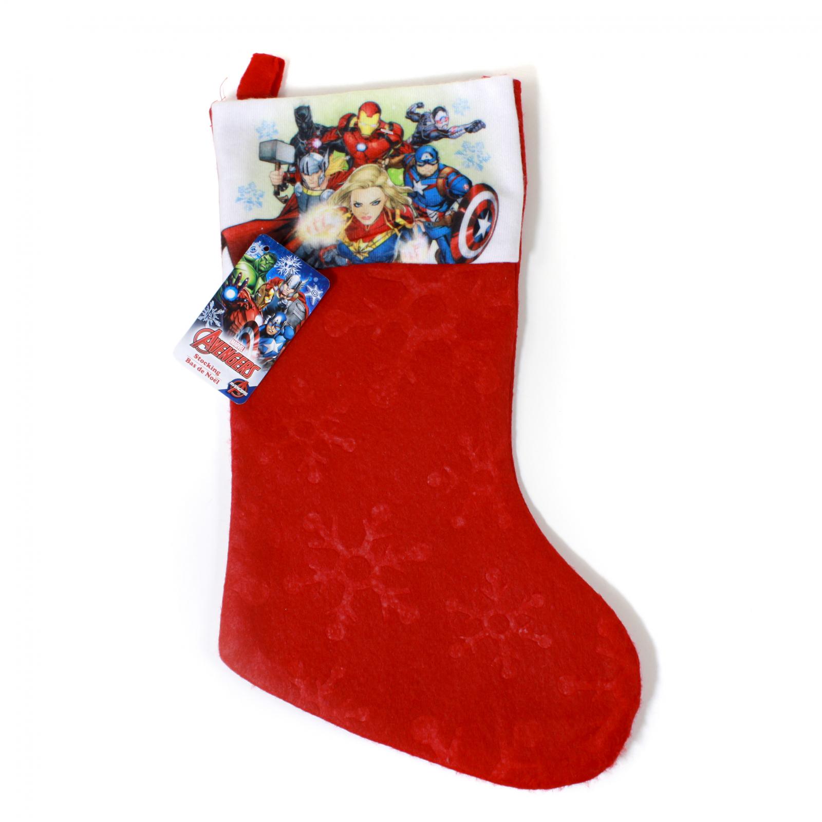 Avengers Kids Christmas Stocking Home Decor 15.5 In
