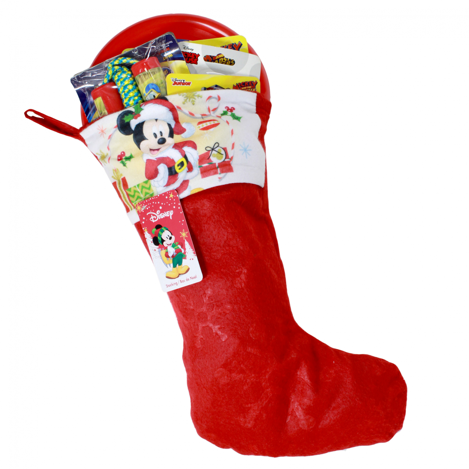 Mickey Mouse Kids Christmas Stocking Filled with Toys 8 Pieces