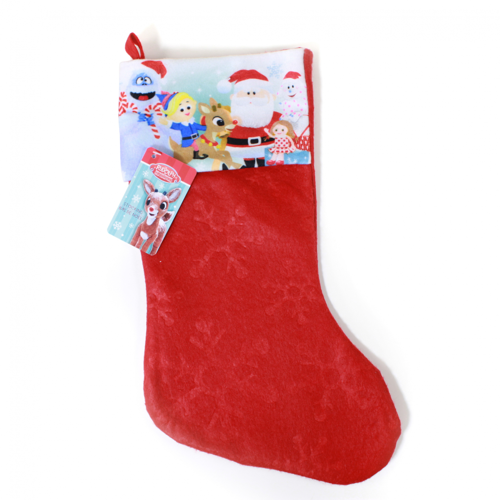 Rudolph Kids Christmas Stocking Home Decor 15.5 In