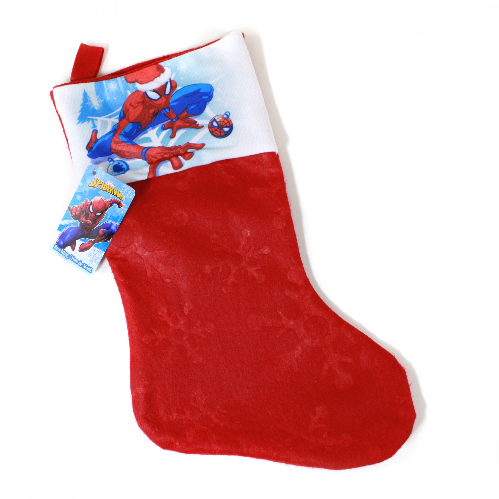 Spiderman Kids Christmas Stocking Home Decor 15.5 In
