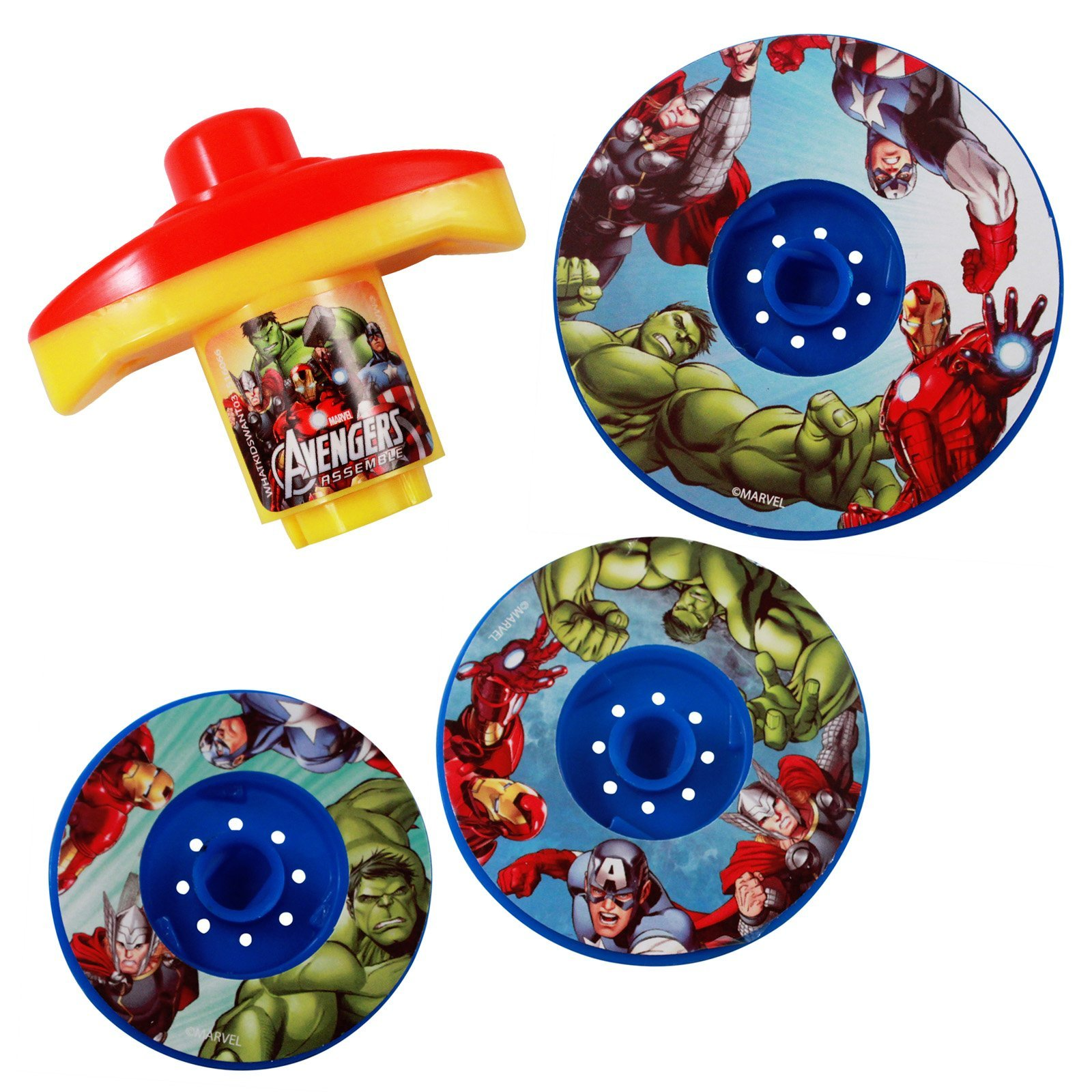 Marvel Avengers Spinning Battle Tops Party Favor