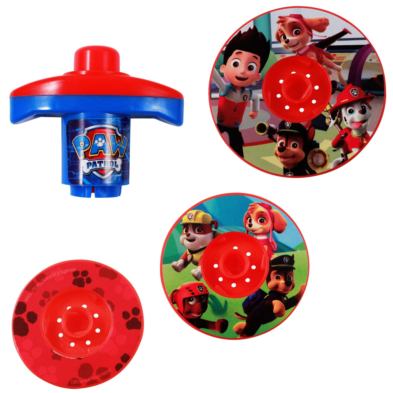 Nickelodeon Paw Patrol Spinning Battle Tops Party Favor