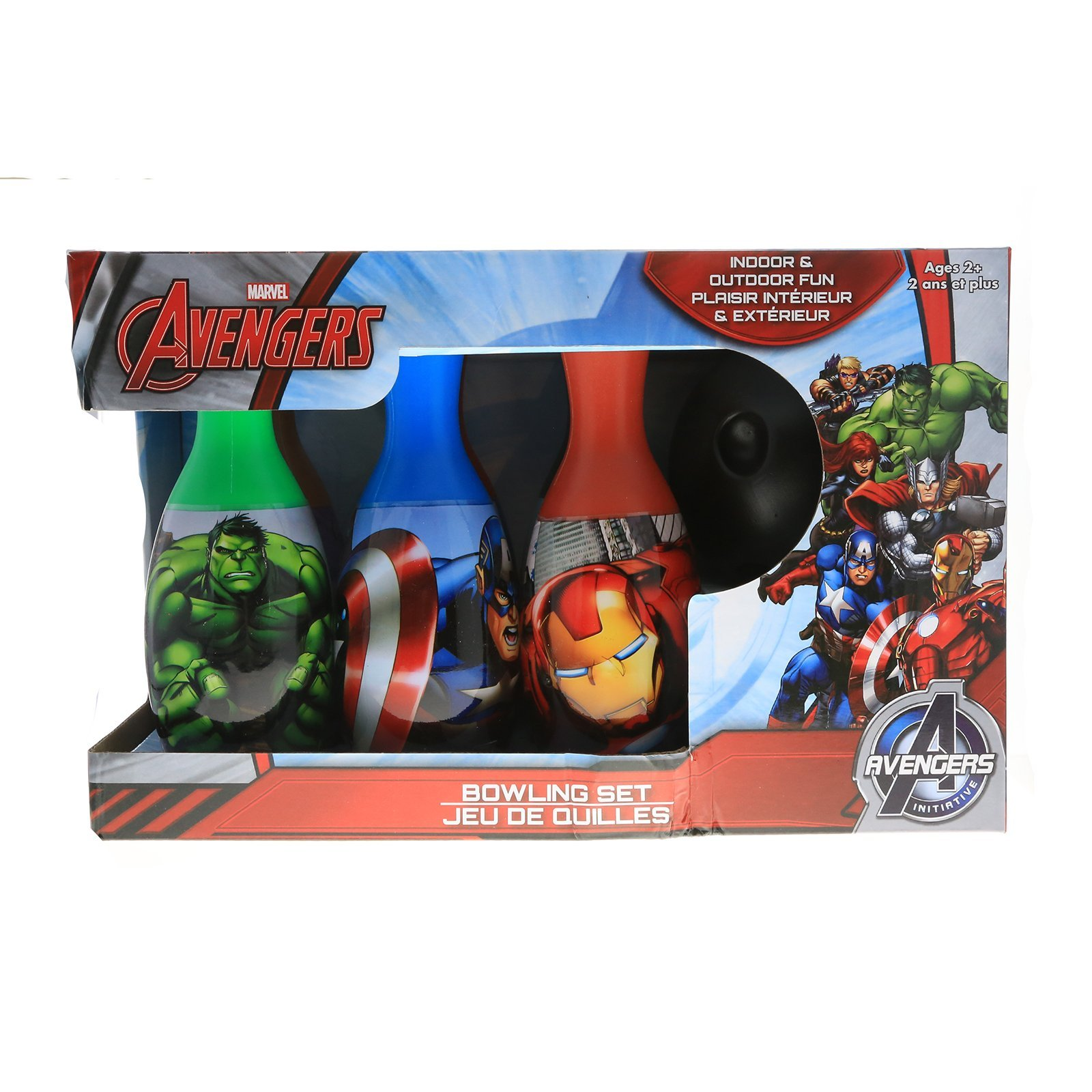 Marvel Avengers Heroes Bowling Pin Party Indoor Outdoor Family Play Set